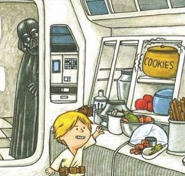 Luke ya usaba la fuerza de pequeño
