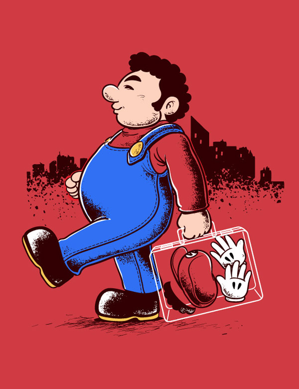 Fin de la jornada de trabajo de Mario