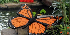 Mariposa monarca de LEGO