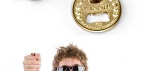 Medalla de oro de abridor de botellas