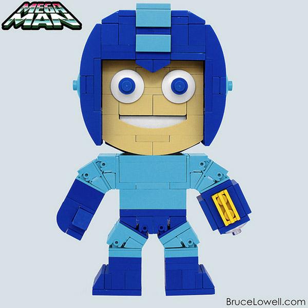 Mega Man hecho con LEGO