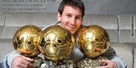 Messi no tiene espacio para más balones