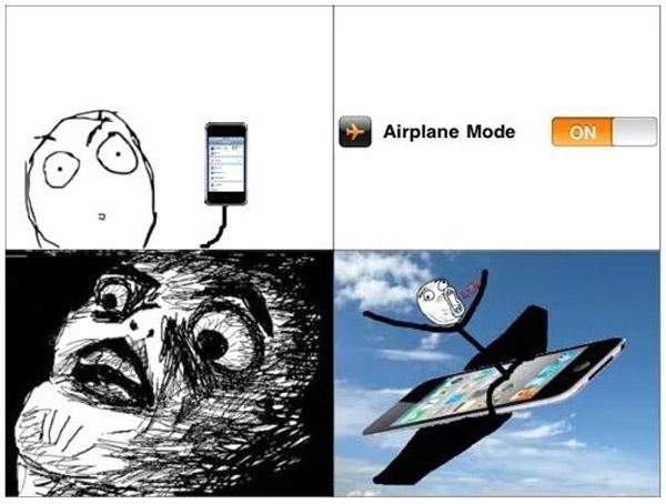 Modo avión en el móvil