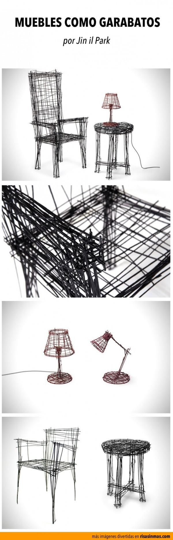 Muebles diseñados como garabatos
