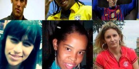 Neymar, Ronaldinho y Messi como mujeres