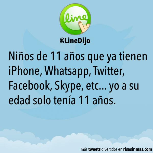 Niños de 11 años que ya tienen Whatsapp
