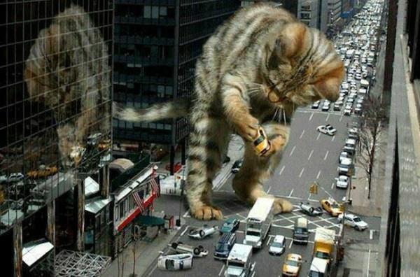 Nueva York destruida por un monstruo gigante