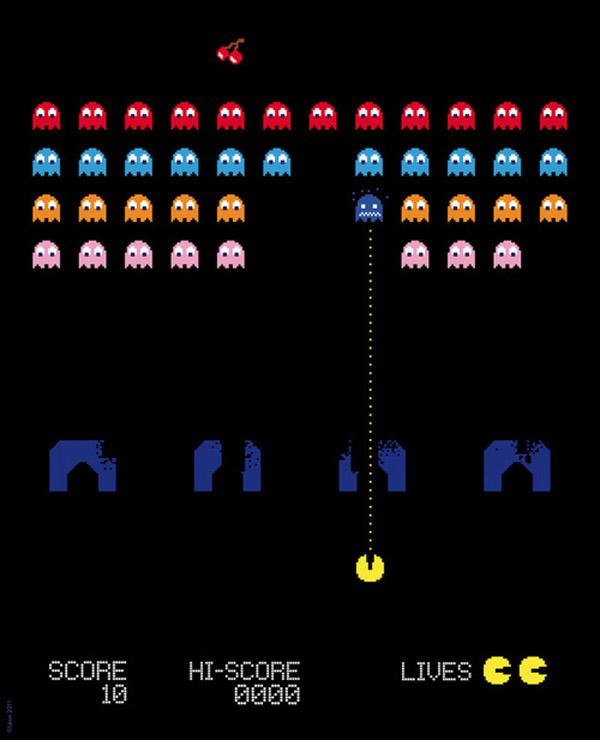 Pac-man Invaders