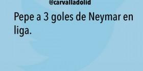 Pepe a 3 goles de Neymar
