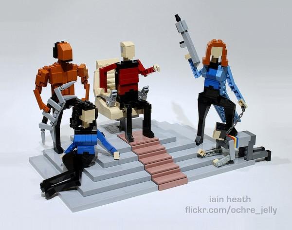 Personajes de Star Trek hechos con LEGO