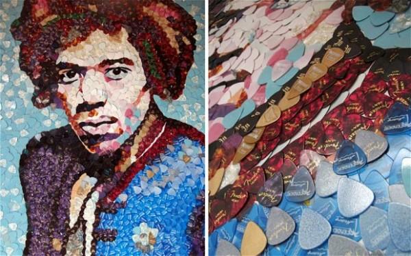 Retrato de Jimi Hendrix