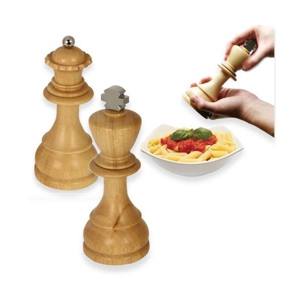 Salpimenteros figuras de ajedrez