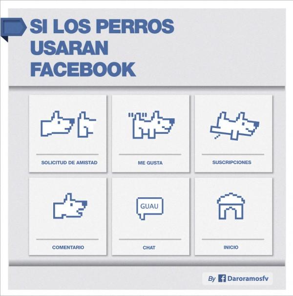 Si los perros usaran Facebook