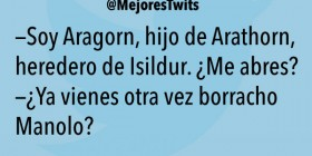 Soy Aragorn, hijo de Arathorn