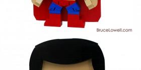 Superman y El hombre de acero hechos con LEGO
