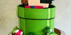 Tarta Mario Bros 8 Bits