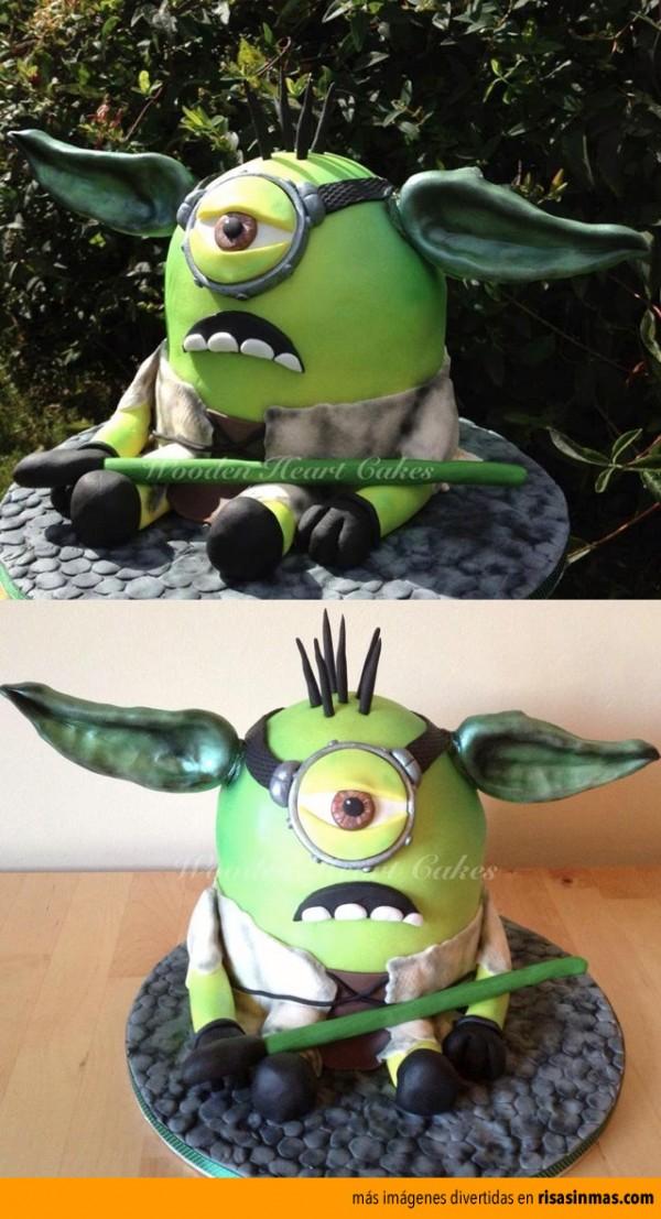 Tarta de Minion Yoda