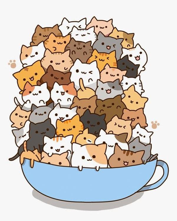 Taza de gatos