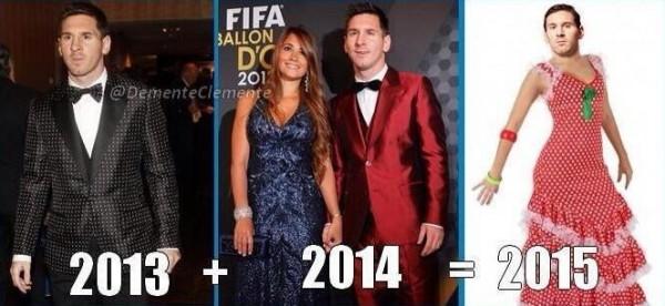 Traje de Messi en la gala del balón de oro 2014