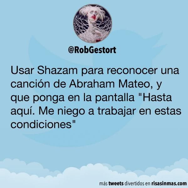 Usar Shazam para reconocer una canción de Abraham Mateo