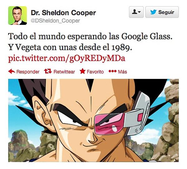 Vegeta con Google Glass