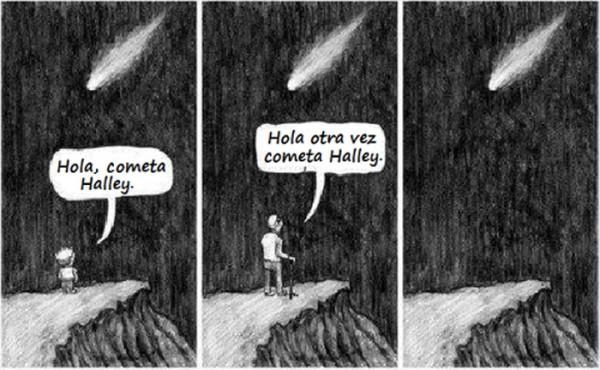 El paso del cometa Halley