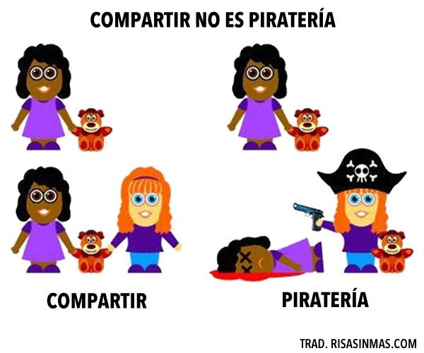 Compartir no es piratería