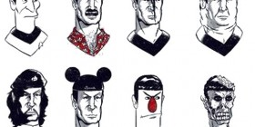 Mister Spock haciendo cosplay