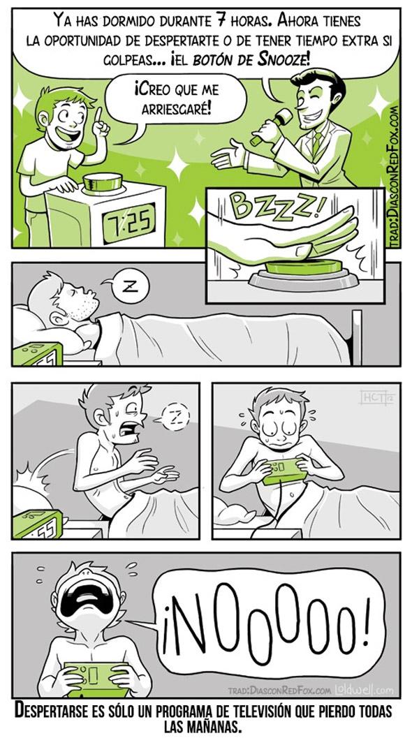 Despertarse es sólo un programa de televisión