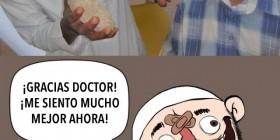 Gracias doctor, me siento mucho mejor