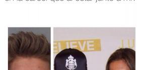 Justin Bieber feliz en la cárcel