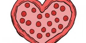 Una pizza es mi San Valentín