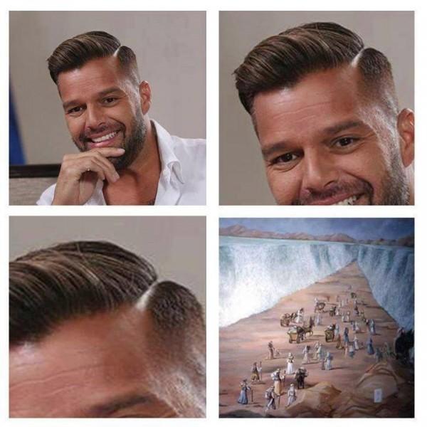 El peinado de Ricky Martin