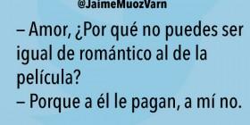 ¿Por qué no puedes ser romántico?