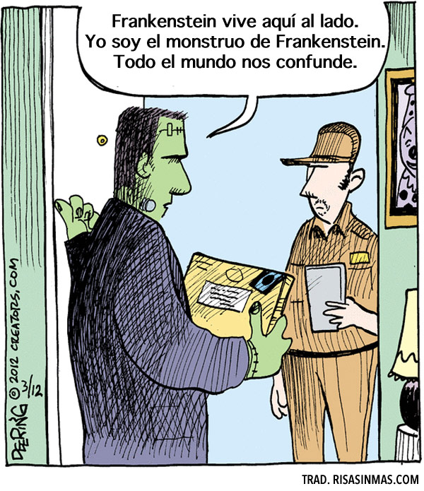 Yo soy el monstruo de Frankenstein