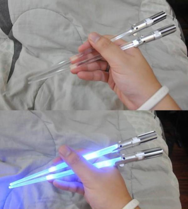 Así come sushi un Jedi