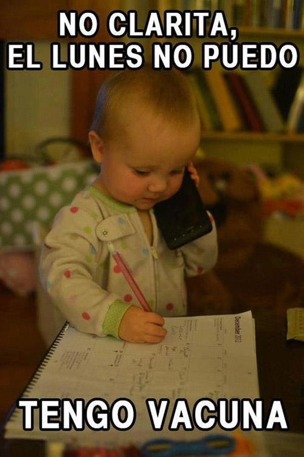 Bebés muy ocupados
