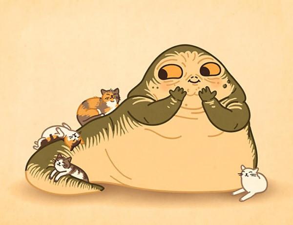 A Jabba le gustan los gatitos