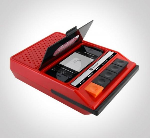Altavoces para iPhone con Forma de Radiocassette