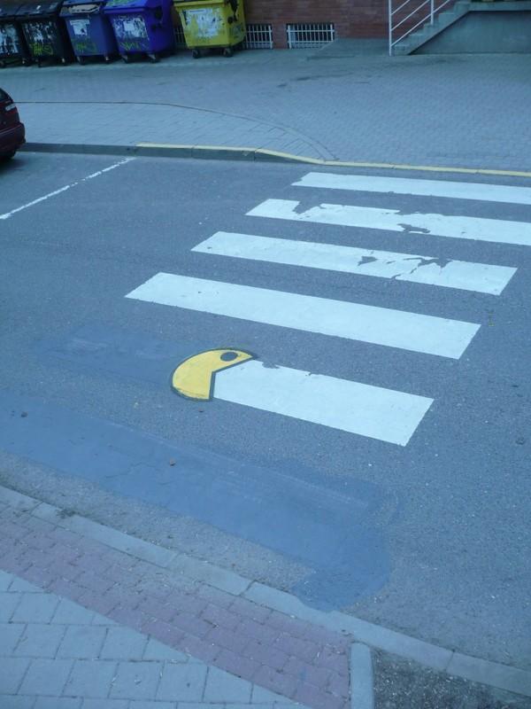 Arte callejero: Pac-Man