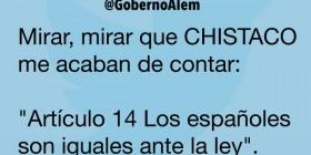 Artículo 14 Los españoles son iguales ante la ley