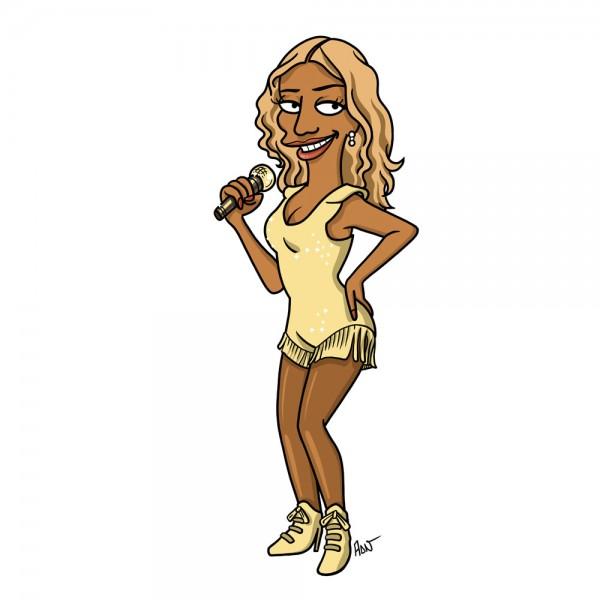 Beyoncé simpsonizada