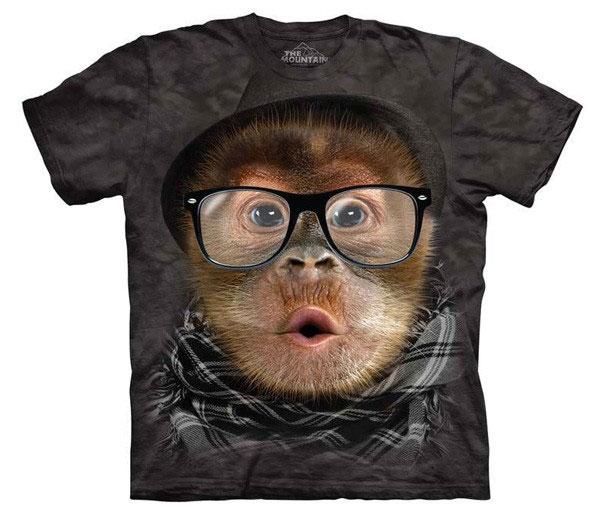 Camiseta Orangután Hipster