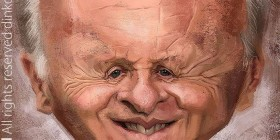 Caricatura de Anthony Hopkins