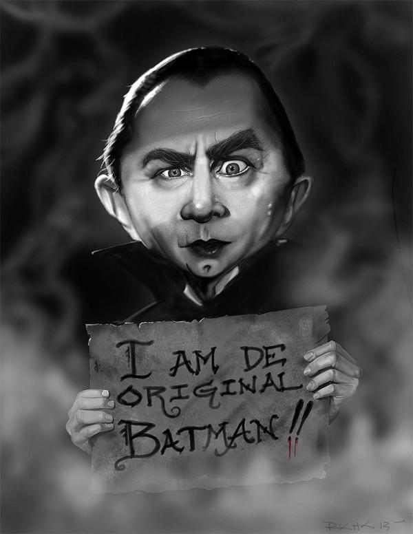 Caricatura de Bela Lugosi