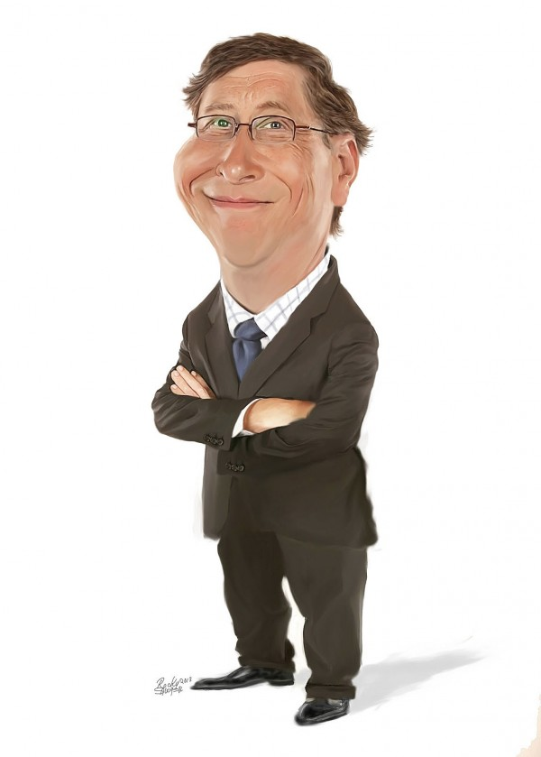 Caricatura de Bill Gates