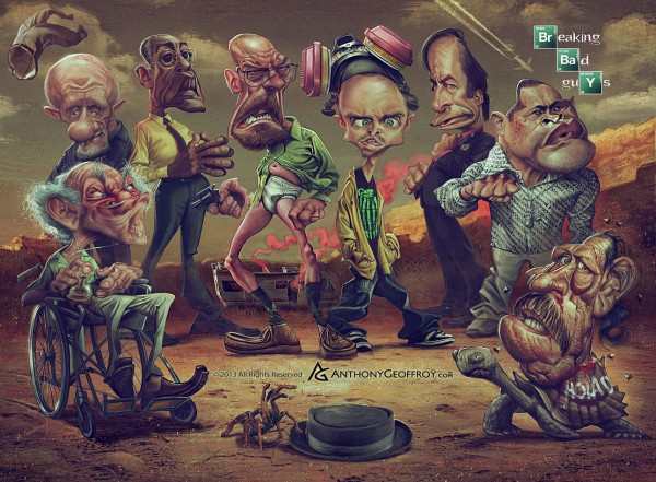 Caricatura de Breaking Bad