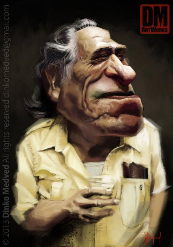 Caricatura de Charles Bukowski