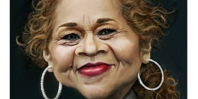 Caricatura de Etta James