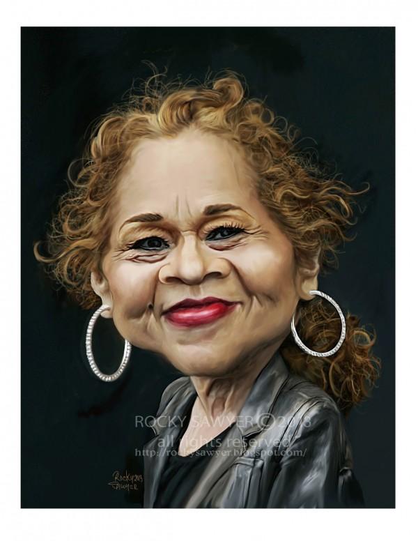 Caricatura de Etta James